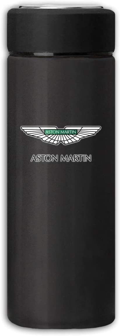 LucyEve Vacuum Insulated Stainless Steel Water Bottle Aston Martin Automobile Logo Frosted Fashion Beverage Bottle for Hot/Cold Drink Coffee Or Tea