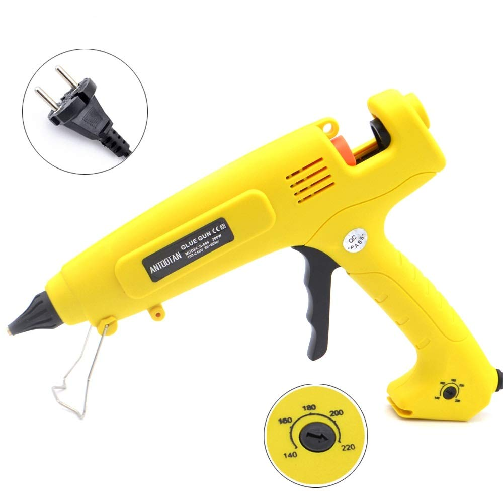 Hot Glue Gun 110V-220V 300W EU Plug Hot Melt Glue Gun Smart Temperature Control Copper Nozzle Heater Heating Wax 11mm Glue Stick