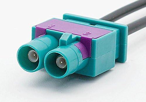 connettore spina maschio carav 13-021 auto radio stereo antenna adattatore doppio-fakra - 2 x fakra-z femmina