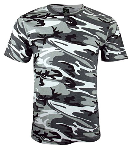 Code V Adult Camouflage Ribbed Woodland T-Shirt, URBAN WOODLAND, XXX-Large
