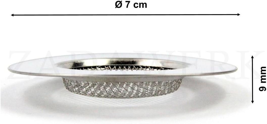 2 piezas desag/üe fino ZADAWERK/® Filtro de desag/üe /Ø 11,5 cm fregadero