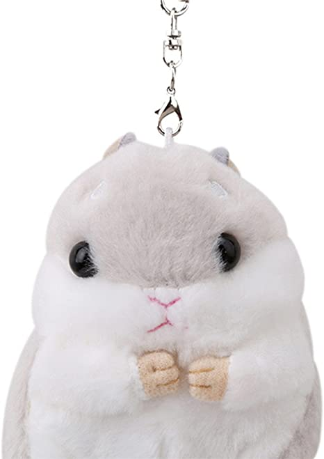 Waymeduo Cute Hamster Keyring Plush Pendant Keychain Car Key Ring Bag Handbag Charm