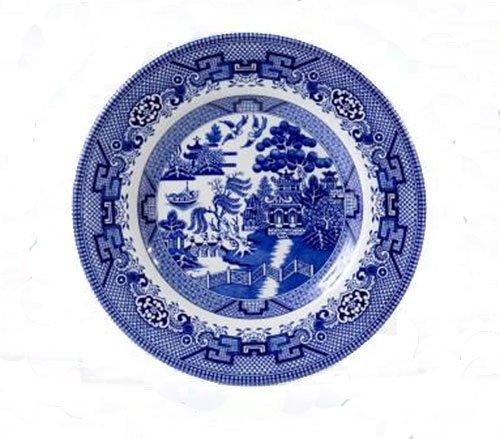 Cuthbertson Blue Willow Salad Plate, 8 (Cuthbertson Blue Willow)
