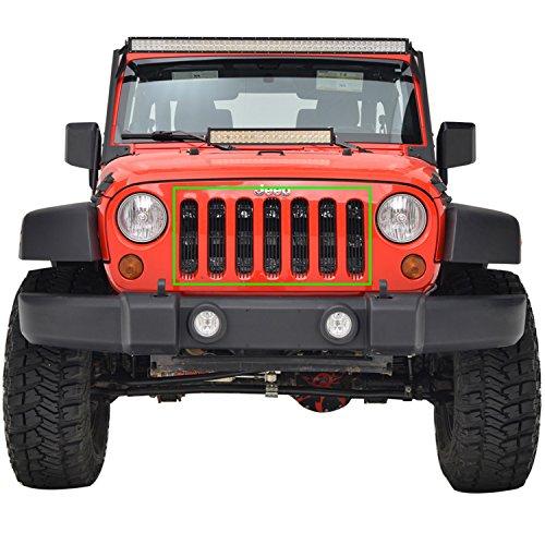 E-Autogrilles Aluminum Billet Front Grille for 07-18 Jeep Wrangler JK Unlimited Jeep Billet Grill