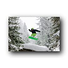Back Country Snowboarding Nature Winter Sports Poster 24 x 36 inches