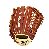 Mizuno GPE1275 Prime Elite Outfield Baseball Glove 12.75', Right Hand Throw, MAHOGANY-TAN