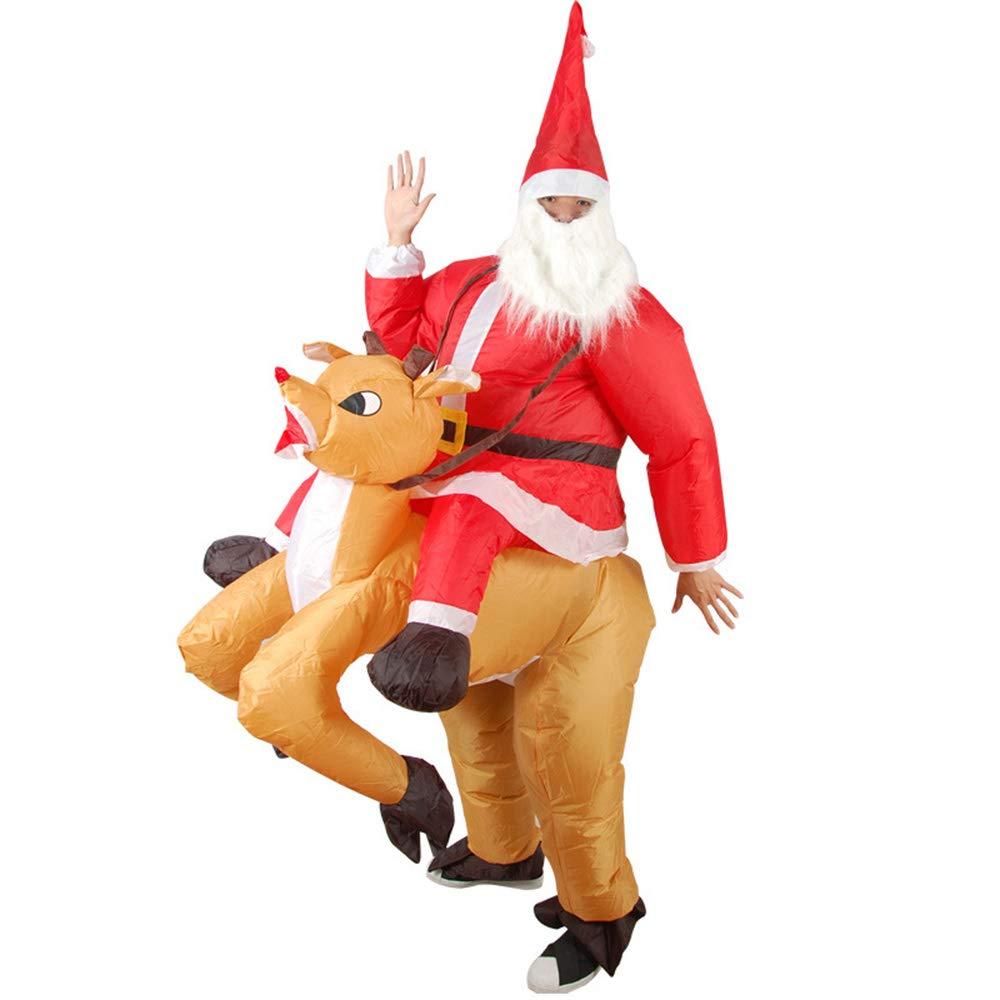 Yzibei Decoraciones del día de Navidad Traje Inflable de Adultos ...