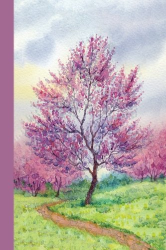 Sketchbook: Pink Tree 6x9: Blank Journal With 160 Unlined, Unruled Pages (Watercolors)