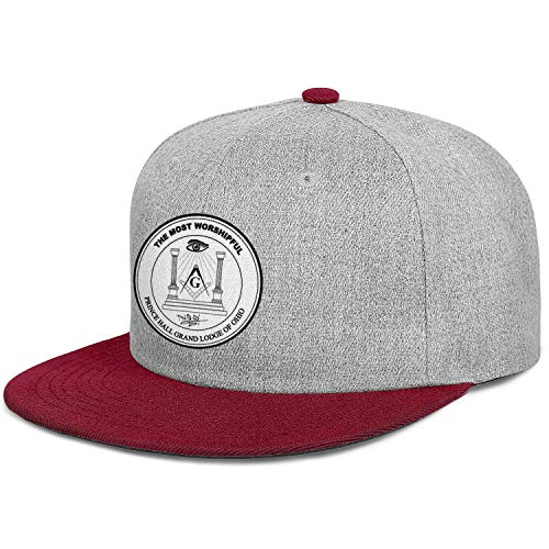 WJINX Prince Hall Grand Lodge of Ohio Unisex Classic Flat Brim Baseball Caps Lightweight Adjustable Trucker Hat