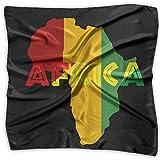 Africa Rasta Women's Square Scarf Fashion Neck Head Scarf Luxurious Scarves Neckerchief