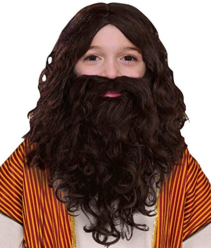 Biblical Jesus Child Costumes (Forum Novelties Child's Biblical Wig and Beard Set, Brown)