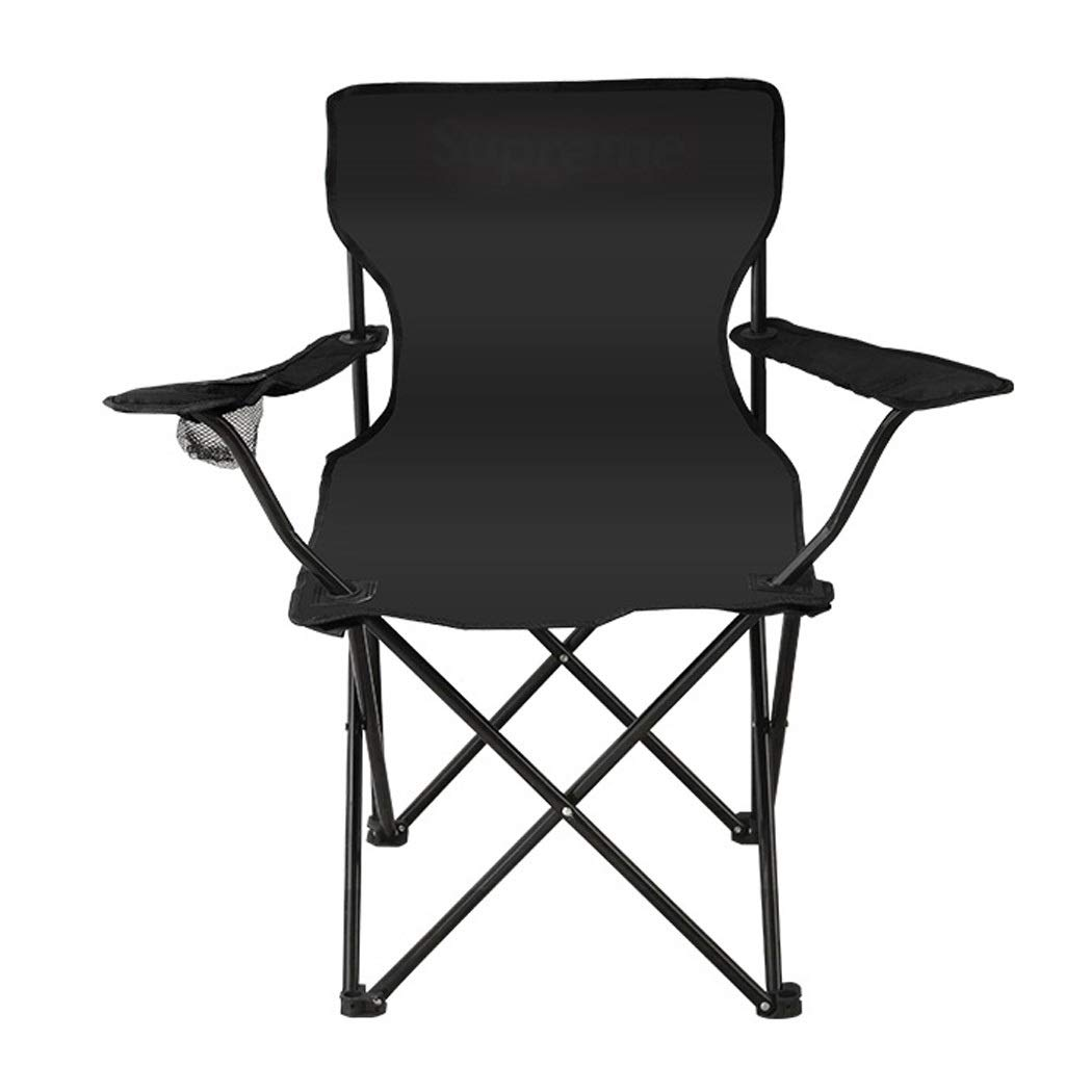 Folding Chair Portable Mazar Small Chair Beach Camping Fishing Stool Outdoor Folding Chair (Color : Black, Size : L)