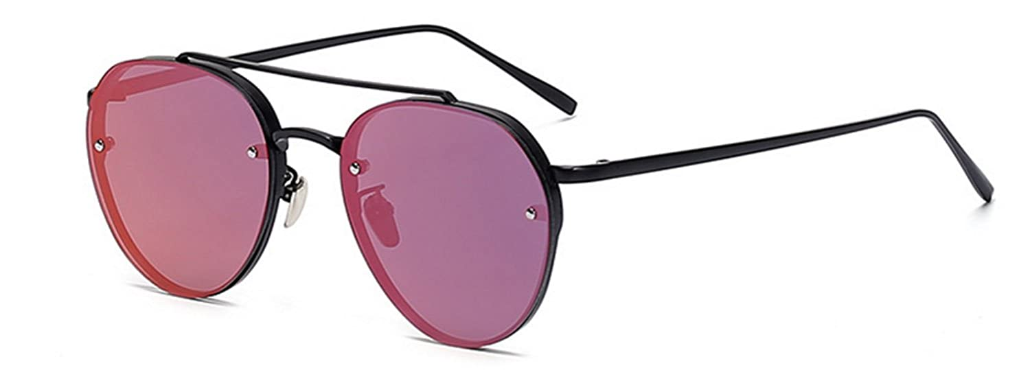 2ed0f16a8f Amazon.com  Aviator Purple Mirror Lens Black Metal Designer Fashion Sunglasses  Men s Women s Non-Prescription OWL  Clothing