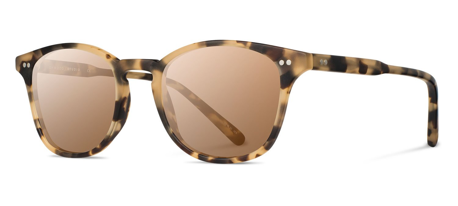 Shwood- Kennedy Acetate, Sustainability Meets Style, Matte Havana, Brown Polarized Lenses