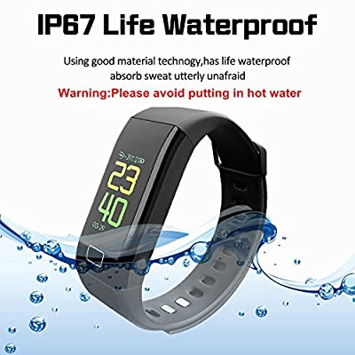 Oxyland Fitness Tracker HR, Activity Tracker with Heart Rate and Blood Pressure Monitor,Fitness Watch IP67 Waterproof Workout Tracker for Kids Women and Men Health Trackers Wristband (Black)