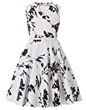 Kate Kasin Sleeveless Cotton Country Flower Summer Casual Dress for Toddler Girls 8-9yrs K250-25