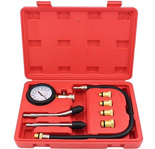 Spttools benzina motore cilindro compressione pressione tester diagnostico set di attrezzi con M8 M10 M12 M14 caricabatteria OMY