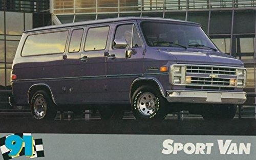 Chevrolet Sport Van (1991 Chevrolet Sport Van ORIGINAL Factory Postcard)