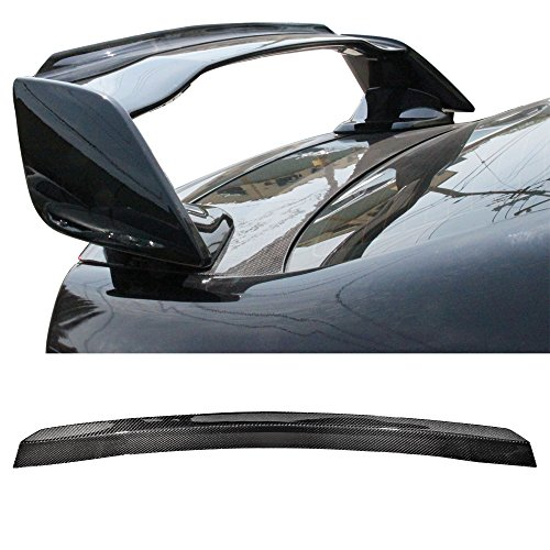 Gurney Flap Fits 2015-2018 Subaru WRX STI | Carbon Fiber (CF) Trunk Boot Lip Spoiler Wing Deck Lid Other Color Available By IKON MOTORSPORTS | 2016 2017