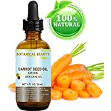 """CARROT SEED OIL 100 % Natural Cold Pressed Carrier Oil. 1 Fl.oz.- 30 ml. Skin, Body, Hair and Lip Care. """"One of the best oils to rejuvenate and regenerate skin tissues."""""""