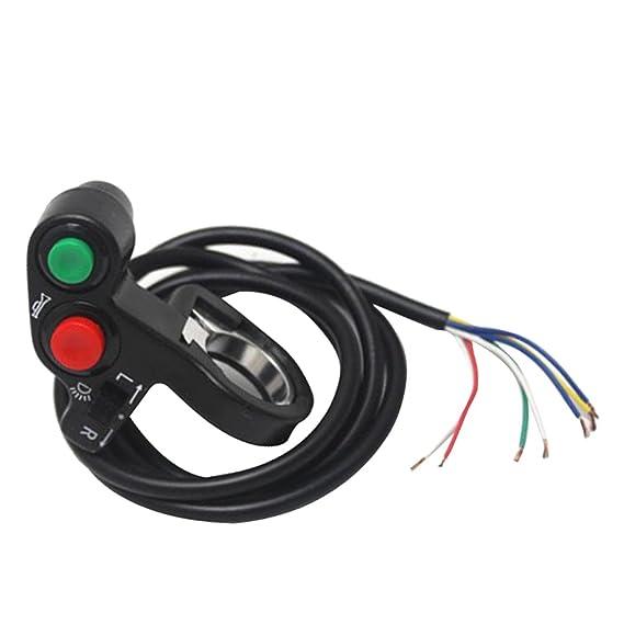 non-brand Interruptor Universal de Bocina Vespa de Motocicleta Campo Interruptores de Se/ñal de Giro Moto