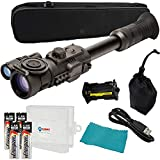 Sightmark Photon RT Digital Night Vision Riflescope, SM18015, Black Bundle with 4 Energizer AA Batteries and a Lightjunction Battery Case