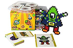 Simbrix Crafter Kit - For fans of Perler, Aquabeads, Qixels - no pegboard, iron or water required.