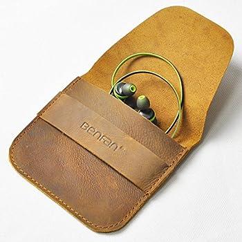 Amazon.com: Benfan Leather Earbuds Case Earphone or