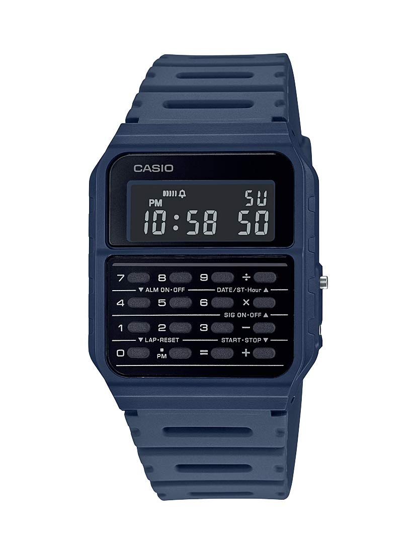 Casio Data Bank Quartz Watch with Resin Strap Blue 24.1 (Model: CA-53WF-2BCF)