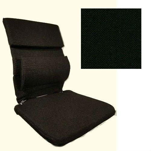 McCartys Sacro Ease Xtra-Pad Series BRSCM-XP Ergonomic Cushioned Car Seat Support - Black Fabric - Plus Free Ergonomics Ebook