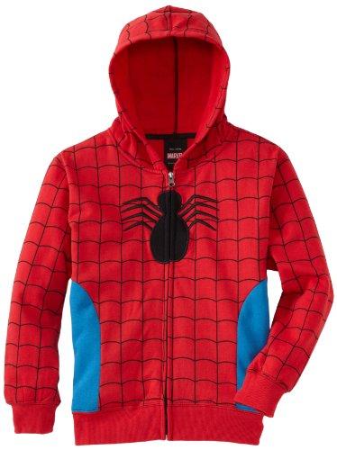 Spiderman Red Blue Costume Halloween Hoodie Sweatshirt, 14-16