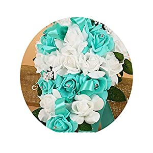 WBeauty PE Foam Flower Artificial Bridal Bouquets Crystal Bridesmaid Bridal Wedding Bouquets 89