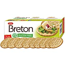 Dare Breton Gluten Free Entertaining Crackers, Herb and Garlic – Gluten Free Party Snacks with no Artificial Colors or Flavors – 4.76 Ounces (Pack of 6)
