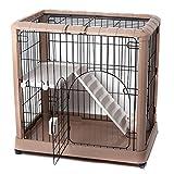 Favorite-2-Tier-Luxury-Cat-Metal-Crate-Cage-2-Doors-34-by-22-by-34