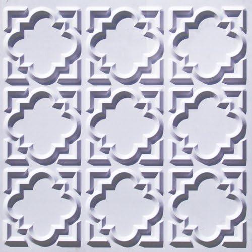 Plafond Pour Carrelage 142 Blanc Mat Colle A Plastique 2 X 2 Feu