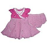 Youngland Baby Girls' A-Line Dress pink Pink Weiß 0-3 Months -  pink - 3-6 Months