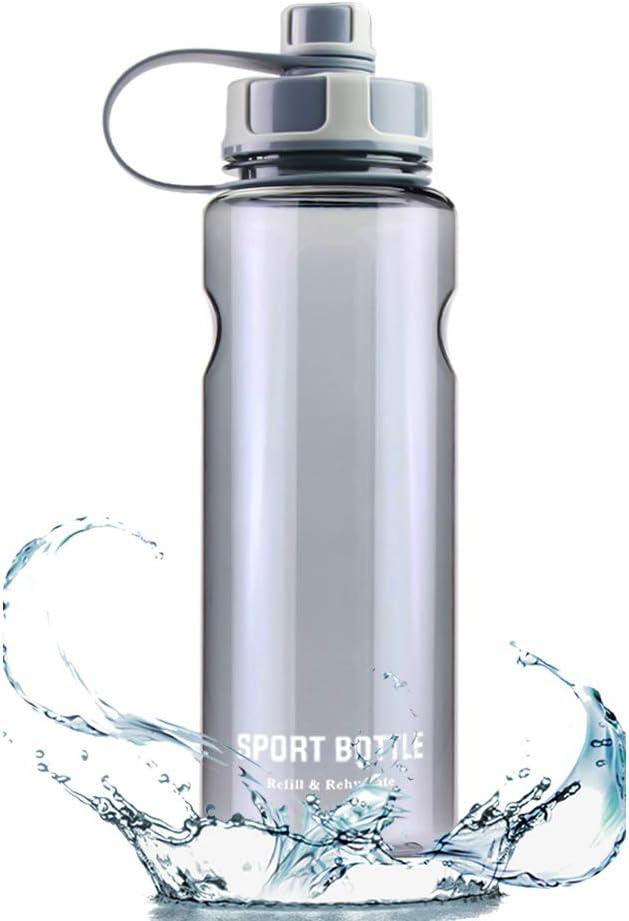 Botellas para Agua Deporte 1.5L Reutilizables Plastico Botellas para Agua a Prueba de Fugas No Tóxico -Contiene Filtro - para Sport, Gimnasio, Trekking, Bicicleta, Yoga