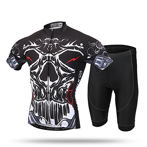 2017 Xintow Cycle Racing Men's Cycling Jersey Short Sleeve Road Bicycle Bike Clothes Wears Skinsuits Shits A615 (A Shorts Set, - Sleeve Skinsuit Short