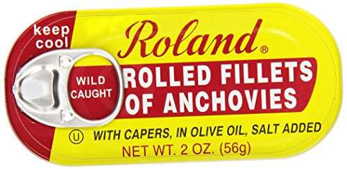 Roland Anchovy Filet Rolled, 2 oz