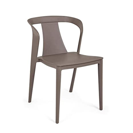ARREDinITALY - Juego de 4 sillas apilables de plástico ...