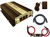 VertaMax Modified 3000 Watt (6000W Surge) 12V Power Inverter DC to AC Car, Solar, RV, Back Up Power (Cables + Remote Control Switch + ANL Fuse Included)