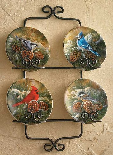 December Dawn - Songbirds Mini Collector Plates by Rosemary Millette