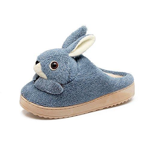 255 38 antiscivolo piedi pantofole Hui donne scarpe Home pantofole 39 cotone blu Y montare d'inverno pzqxHqP