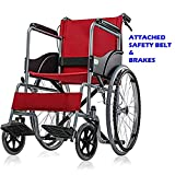 wheel chair (Delux folding with dual brakes and safety belt)