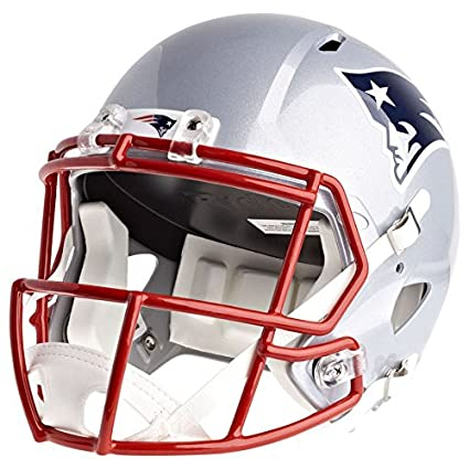 6723a1bd21f Amazon.com   Riddell New England Patriots Officially Licensed Speed Full  Size Replica Football Helmet   Sports   Outdoors