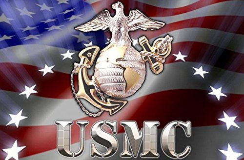 Seal States United Marine Corps (United States MARINE CORPS SEAL Birthday Party Edible Frosting Image 1/2 sheet Cake Topper)