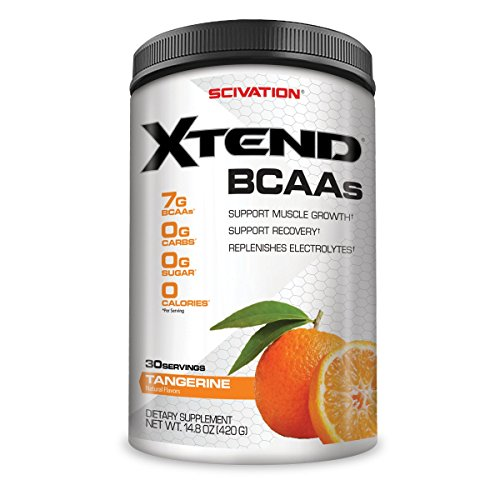 Scivation Xtend BCAA Powder, Branched Chain Amino Acids, BCAAs, Tangerine, 30 Servings