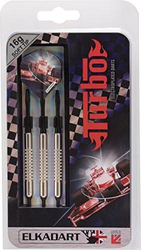 Elkadart Turbo Soft Tip Darts with Storage//Travel Case 14 Grams