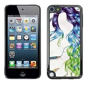 PC/Aluminum Funda Carcasa protectora para Apple iPod Touch 5 hair we love / JUSTGO PHONE PROTECTOR