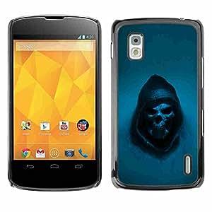 Shell-Star ( Grim Reaper Skull Goth Death ) Fundas Cover Cubre Hard Case Cover para LG Google NEXUS 4 / Mako / E960